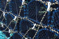 Krabben- oder Hummerfischereitöpfe Lizenzfreies Stockbild