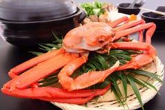 Krabben-und heißer Gemüsetopf Stockbilder
