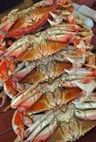 Krabben voor verkoop Stock Afbeelding