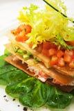 Krabbenfleisch-Salat Stockfotos