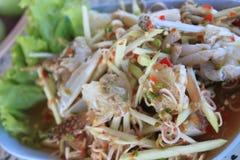 Krabbenpapaya Stockbilder