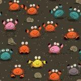 krabbor mönsan seamless Arkivfoton