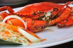 krabbor plate förberett grillat undressed royaltyfria foton