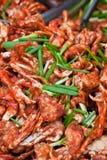 krabbor smaksatte kryddigt Royaltyfria Bilder