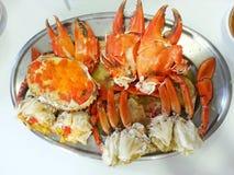 Krabbor thailändsk mat, Thailand Arkivbilder