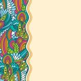 Krabbt blom- skissar mallen Arkivfoton