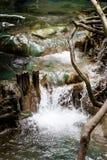 Krabi温泉城瀑布 免版税库存照片