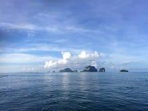 krabi省晃动海运 泰国 在遥远的海岛上的看法 库存图片