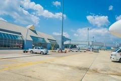 KRABI,泰国- 2018年2月02日:Krabi国际机场室内看法  甲米府为它被认识 图库摄影