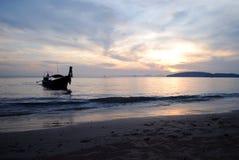 Krabi Таиланд Aonang захода солнца Стоковые Изображения