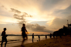 Krabi Таиланд - Krabi 20: Вид на море пляжа в Krabi Таиланде 20/0 Стоковое Изображение RF