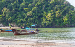 Krabi Таиланд - Krabi 20: Вид на море пляжа в Krabi Таиланде 20/0 Стоковые Фото