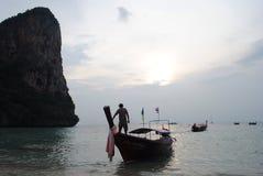 Krabi Таиланд Railay захода солнца Стоковое фото RF