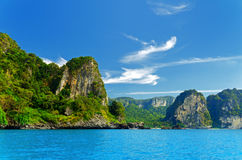 Krabi. Beautiful tropical landscape. Krabi province, Thailand royalty free stock image