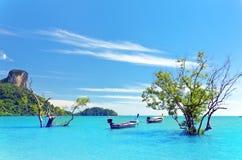 Krabi. Beautiful tropical landscape. Krabi province, Thailand stock photography