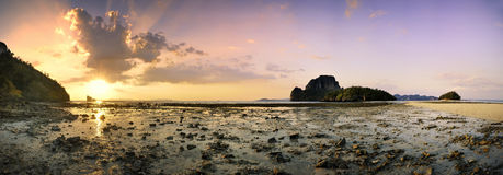 Krabi beach panorama 1 Royalty Free Stock Photos