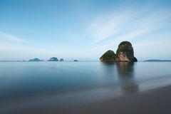 Krabi beach in Thailand Royalty Free Stock Photo