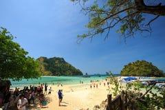 KRABI - 19 FEBBRAIO; 2016: Viaggio sae del krabi; La Tailandia su Febr Fotografia Stock Libera da Diritti