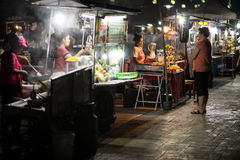 Krabi food market. At night Royalty Free Stock Images