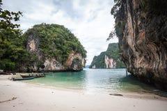 Krabi idylliskt landskap, Thailand Arkivfoto
