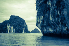 Krabi idylliskt landskap, Thailand Arkivbild