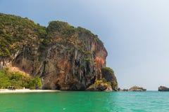 Krabi island cliff at thailand resort beach Stock Photo