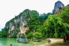 Krabi Island Rayavadee stock photo