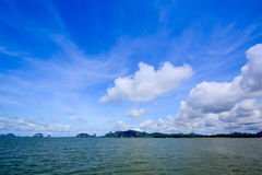 Krabi islands with blue sky Stock Photo