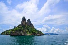 Krabi islands with blue sky of Thailand Stock Photo