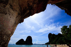 Krabi islands with blue sky of Thailand Stock Images