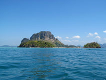 Krabi islands and sea, Thailand Royalty Free Stock Photos