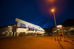 Krabi, 9 July 2014: Makro Cash and Carry shop building and parki Royalty Free Stock Photo