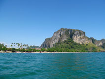 Krabi limestone rock formations and sea, Thailand Royalty Free Stock Images