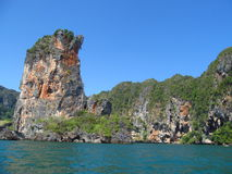 Krabi limestone rock formations, Thailand Stock Photography