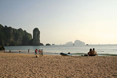 krabi nang Ταϊλάνδη καρστ ζευγών AO Στοκ Εικόνα