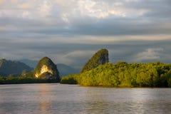 Krabi Pak Nam River view. Thailand Stock Photos