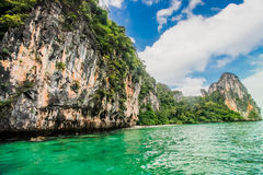Krabi plaża, Tajlandia Obrazy Royalty Free