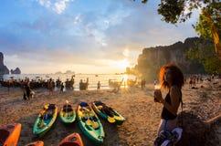Krabi Province of Thailand. Phranang, Railay and Tonsai area. Royalty Free Stock Image