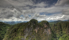 Krabi province from tiger temple Stock Photo