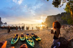 Krabi prowincja Tajlandia Phranang, Railay i Tonsai teren, Obraz Royalty Free