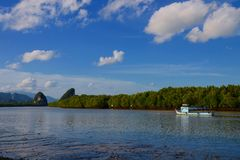 Krabi river Royalty Free Stock Images