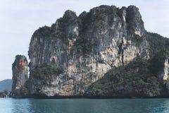Krabi skärgård i Thailand Fotografering för Bildbyråer