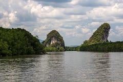 Krabi-Stadt in Thailand, Asien stockbild