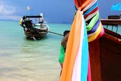 Krabi tailandés del barco Imagen de archivo libre de regalías
