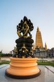 KRABI, THAILAND - APR 16 : Statue of Jatuakarmramathep with holy Stock Images