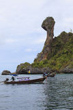 KRABI,THAILAND-APRI L16,2013: boats taking group of visitor past Stock Photo