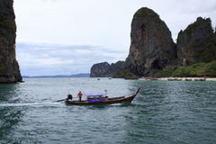 KRABI,THAILAND - APRIL16 , 2013: andaman sea boats taking  group Stock Photo