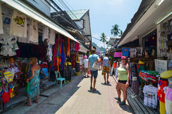 KRABI,THAILAND - APRIL 14, 2014 : The tourist visit small touris Royalty Free Stock Images