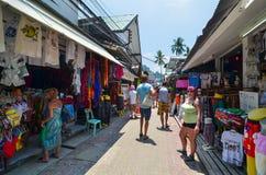 KRABI,THAILAND - APRIL 14, 2014 : The tourist visit small touris Royalty Free Stock Images
