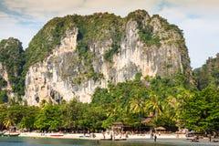 Krabi,Thailand,December 11,2013:Railay beach, Krabi, Andaman sea Royalty Free Stock Images